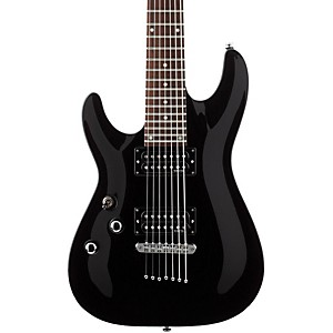 Schecter-Guitar-Research-OMEN-7-Left-Handed-Electric-Guitar-Black
