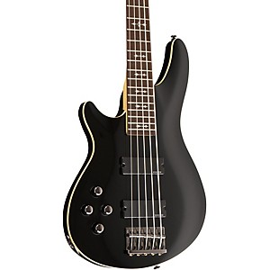 Schecter-Guitar-Research-OMEN-5-BASS-Left-Handed-Electric-Guitar-Black