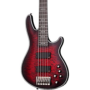 Schecter-Guitar-Research-Hellraiser-Extreme-5-Electric-Bass-Guitar-Chrimson-Red-Burst-Satin