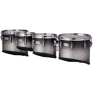 Pearl-Maple-CarbonCore-Marching-Tenors-Sonic-Cut--Drums---Spacers-only--Black-Silver-Burst-10-12-13-14