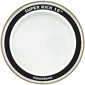 Aquarian-Super-Kick-10-Bass-Drumhead-Clear-18-Inch