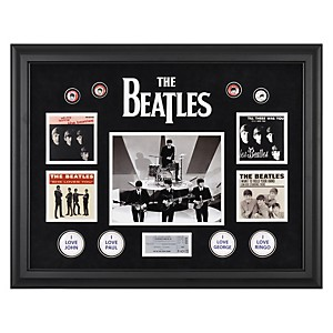 Mounted-Memories-The-Beatles--On-The-Ed-Sullivan-Show--Framed-Presentation-Standard