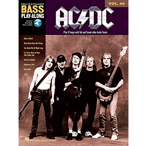 Music-Sales-AC-DC---Bass-Play-Along-Volume-40--Book-CD--Standard