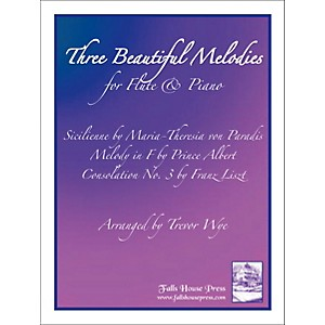 Theodore-Presser-Three-Beautiful-Melodies-For-Flute---Piano--Book---Sheet-Music--Standard