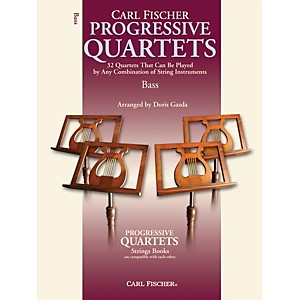 Carl-Fischer-Progressive-Quartets-for-Strings--Bass--Book--Standard