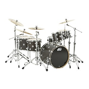 DW-Collector-s-Series-Satin-Oil-5-Piece-Shell-Pack-Ebony-Chrome-Hardware