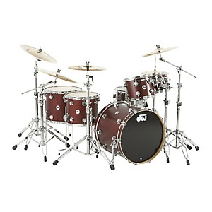 DW-Collector-s-Series-Satin-Oil-5-Piece-Shell-Pack-Ox-Blood-Red-Chrome-Hardware