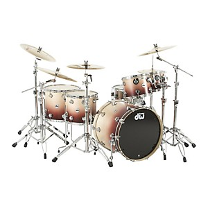 DW-Collector-s-Series-Satin-Specialty-5-Piece-Shell-Pack-Natural-to-Ox-Blood-Red-Fade-Chrome-Hardware