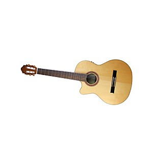 Kremona-Rondo-R65CW-Left-Handed-Classical-Electric-Guitar-Gloss-Natural