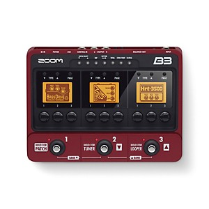 Zoom-B3-Bass-Effects-and-Amp-Simulator-Red