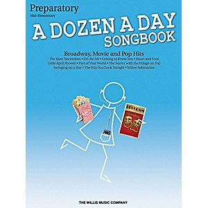 Willis-Music-A-Dozen-A-Day-Songbook---Preparatory-Book-Mid-Elementary-Level-for-Piano-Standard