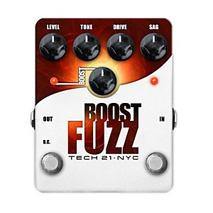 Tech-21-Boost-Fuzz-Analog-Fuzz-Guitar-Effects-Pedal-Standard