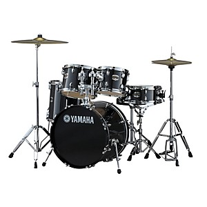 Yamaha-GigMaker-5-Piece-Drum-Set-with-20--Bass-Drum-Black-Glitter