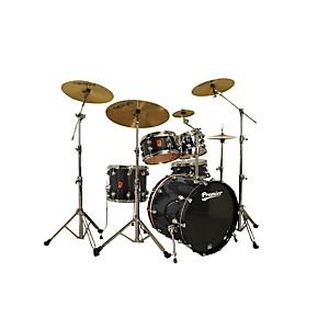 Premier-Genista-Maple-Studio-22-5-Piece-Shell-Pack-Solid-Black-Lacquer