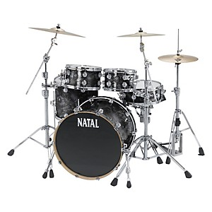 Natal-Drums-Ash-US-Fusion-X-5-Piece-Shell-Pack-Black-Swirl