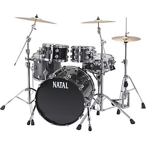 Natal-Drums-Birch-US-Fusion-X-5-Piece-Shell-Pack-Black-Metallic