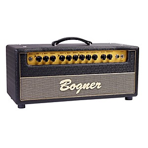 Bogner-Shiva-Tube-Guitar-Amp-Head-with-6L6-Power-Tubes-Jet-Comet-Tolex-Salt-and-Pepper-Grill