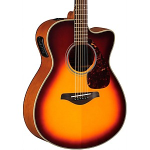 Yamaha-FSX700SC-Solid-Top-Concert-Cutaway-Acoustic-Electric-Guitar-Brown-Sunburst
