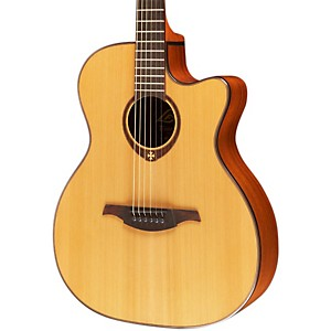 Lag-Guitars-T200ACE-Auditorium-Cutaway-Acoustic-Electric-Guitar-Natural