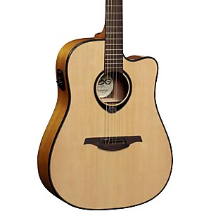 Lag-Guitars-T66DCE-Dreadnought-Cutaway-Acoustic-Electric-Guitar-Natural
