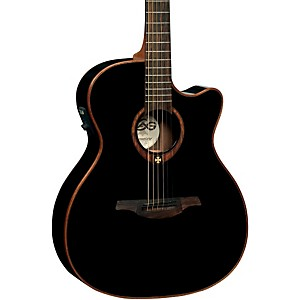 Lag-Guitars-T100ACE-Auditorium-Cutaway-Acoustic-Electric-Guitar-Black