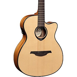 Lag-Guitars-T66ACE-Auditorium-Cutaway-Acoustic-Electric-Guitar-Natural