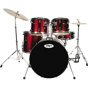 Sound-Percussion-Complete-5-Piece-Drum-Set-with-Cymbals---Hardware-Wine-Red