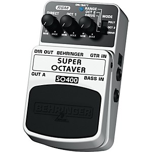 Behringer-Super-Octaver-SO400-Guitar-Bass-Effects-Pedal-Standard