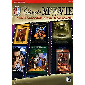 Alfred-Classic-Movie-Instrumental-Solos-Tenor-Sax-Play-Along-Book-CD-Standard