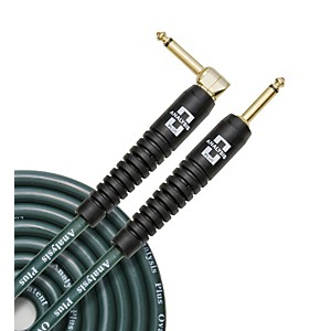 Analysis-Plus-Big-Green-Instrument-Cable-with-Overmold-Plug-w-Straight-Angle-Plugs-10-Feet