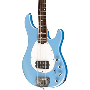 Music-Man-Sterlin-4-Strin-Rosewood-Neck-Electric-Bass-Sky-Blue-White-Pickguard