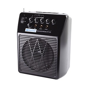 Amplivox-Wireless-Rechargeable-Mity-Vox-PA-System-Black