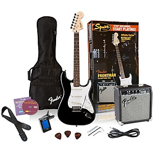 Squier-Affinity-Stratocaster-Electric-Guitar-Pack-w--10G-Amplifier-Black