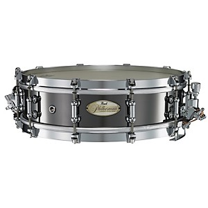 Pearl-Philharmonic-Brass-Snare-Drum-Black-Nickel-14x4