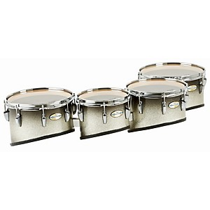 Pearl-Maple-Carbon-Core-Marching-Tenors-Shallow-Cut-Quad-Set--Drums---Spacers-Only--Black-Silver-Burst-10-12-13-14