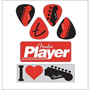 Fender-I-Love-Fender-Die-Cut-Stickers--6-Pack--Standard