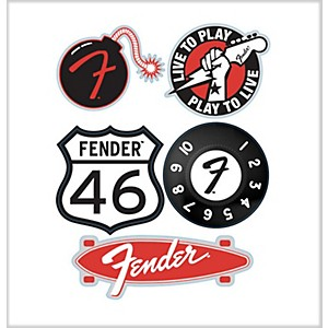Fender--46-Die-Cut-Stickers--5-Pack--Standard