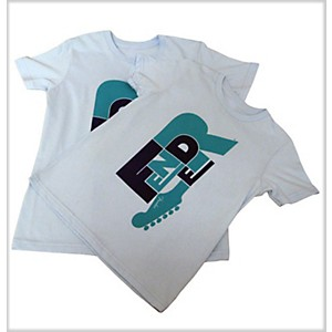 Fender-Word-Kids-T-Shirt-Teal-XS-10