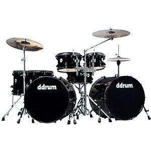 Ddrum-Journeyman-Double-Down-7-Piece-Drum-Kit-Mid-Black