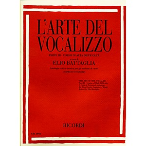 Ricordi-L-arte-Del-Vocalizzo-The-Art-of-the-Vocalise---Part-III-Soprano-tenor-Standard
