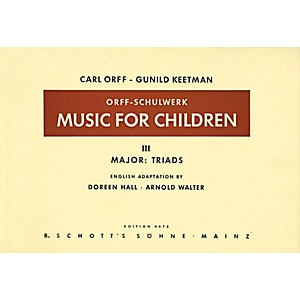 Schott-Music-For-Children-Vol-3-Major-Triads-by-Carl-Orff-arr-by-Hall-Walter-Standard