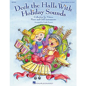 Hal-Leonard-Deck-The-Halls-With-Holiday-Sounds-Song-Collection-for-Voice-and-Orff-Instruments-Teacher-Edition-Standard