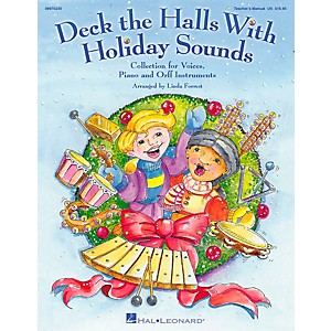 Hal-Leonard-Deck-The-Halls-With-Holiday-Sounds-Song-Collection-for-Voice-and-Orff-Instruments-Vocal-10-Pack-Standard
