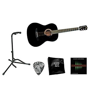 Rogue-Beginner-Acoustic-Dreadnought-7-8-Guitar-with-Accessory-Pack-Black