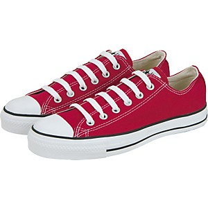 Converse-Chuck-Taylor-All-Star-Core-Oxford-Low-Top-Red-Mens-Size-10
