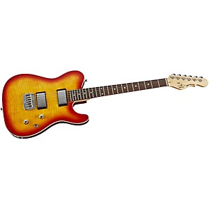 G-L-Tribute-ASAT-Deluxe-Carved-Top-Electric-Guitar-Cherry-Sunburst-Rosewood-Fretboard