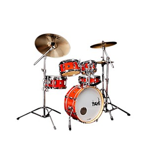 Taye-Drums-GoKit-Birch---Basswood-5-Piece-Shell-Pack-Daytona-Sunset-Lacquer