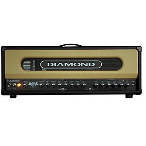 Diamond-Amplification-Spitfire-II-USA-Custom-Series-50W-100W-Tube-Guitar-Amp-Head-Black