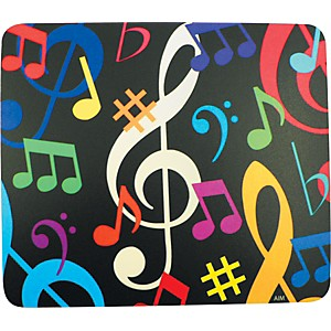 AIM-Multi-Color-Music-Notes-Mousepad-Standard