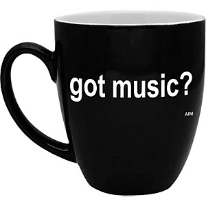 AIM-Got-Music--Black-and-White-Bistro-Coffee-Mug-Standard